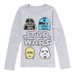 Disney's Star Wars Character Faces Shirt NWT